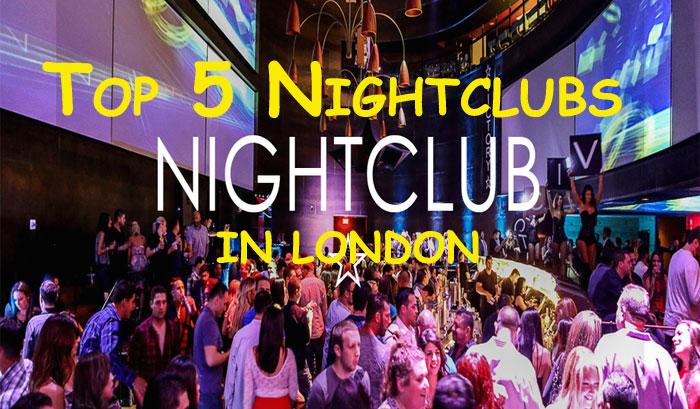 Top 5 nightclub in London - Agency London Jewels